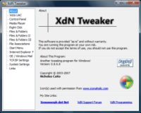 XdN Tweaker: Windows buherálóknak